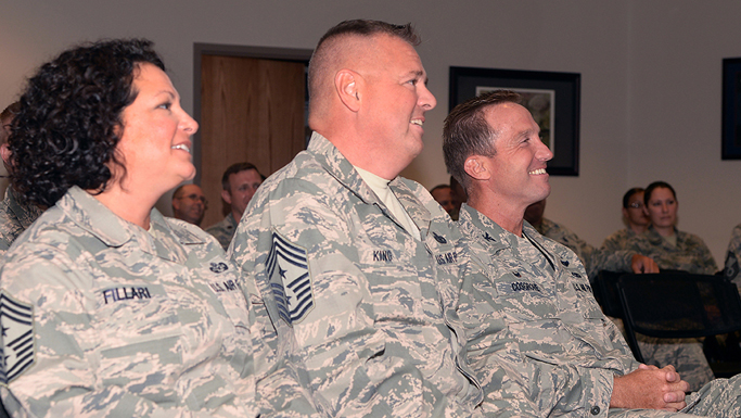 1st Air Force Command Chief Master Sgt. Richard King Visits 177FW