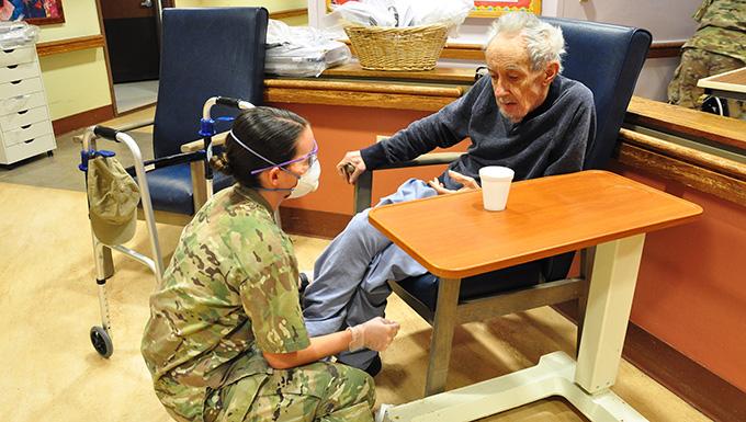 NJ Guard supports Menlo Park Veterans Home