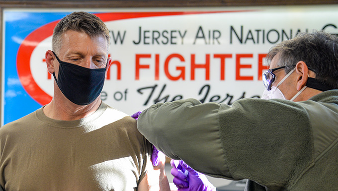 177th Fighter Wing Medical Group Administers Wing's First Round of COVID-19 Vaccinations