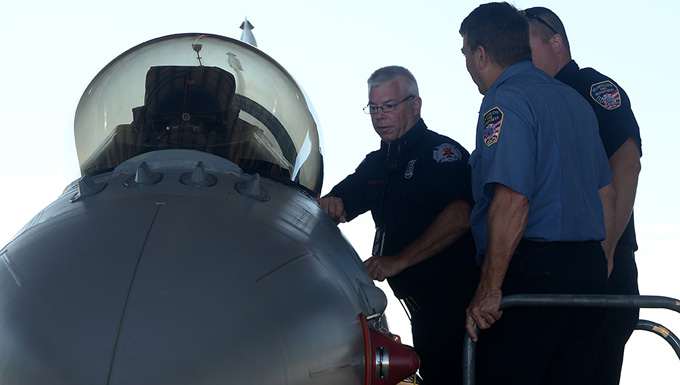 F-16 Familiarization Training for Local First Responders